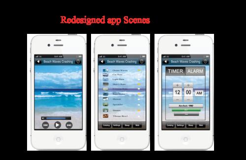 white noise app redesign